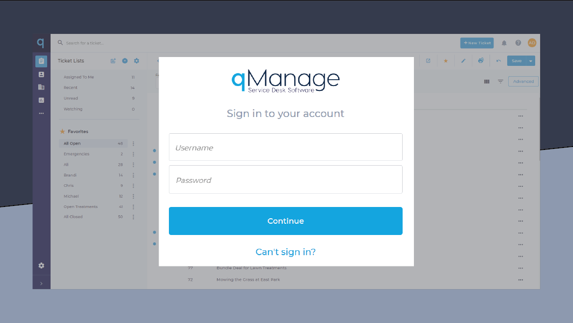 qManage - Sign In