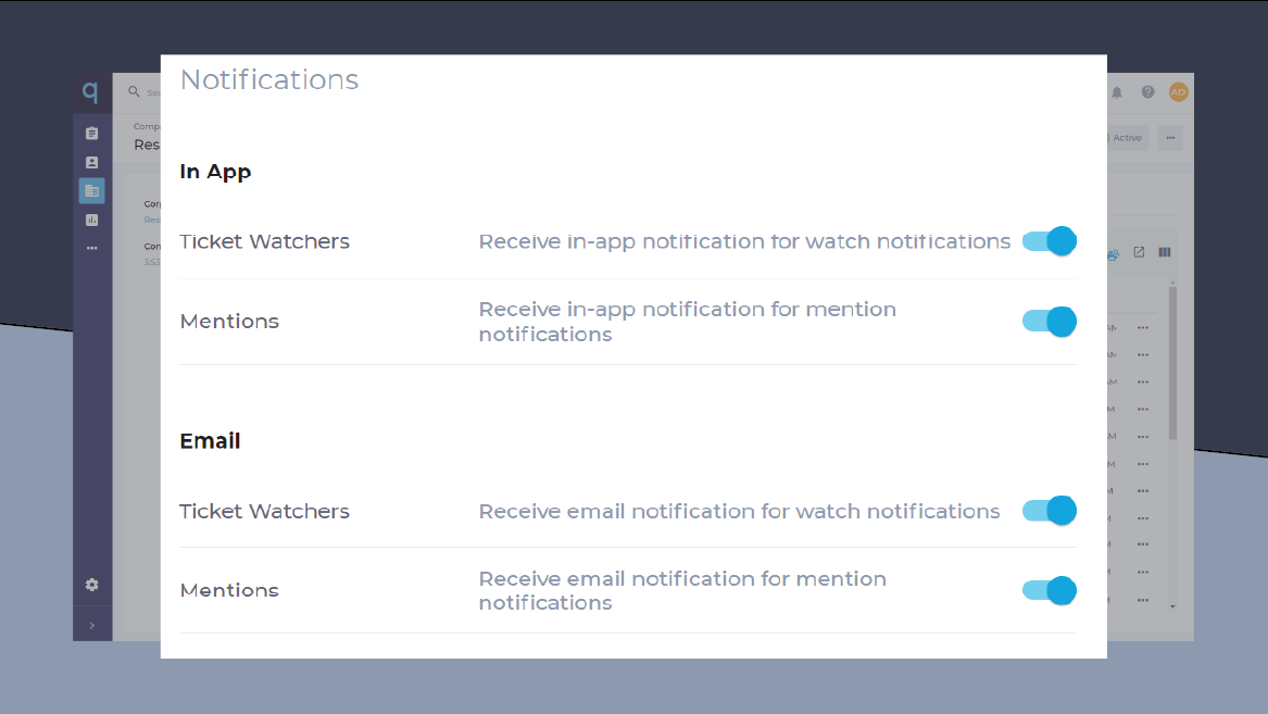qManage - Notifications
